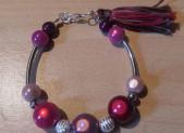 Bracelet perles «magiques» rose